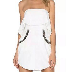 NBD Revolve Dress Mini Flutter Beaded Small $178